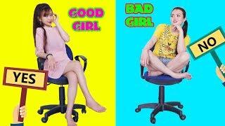 10 FUNNY GOOD GIRL VS BAD GIRL | TRY NOT TO LAUGH