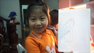 Bảo Anh 7 tuổi vẽ chân dung ĐỨC PHẬT tuyệt đẹp, mừng ngày Phật thành đạo 8/12 ÂL