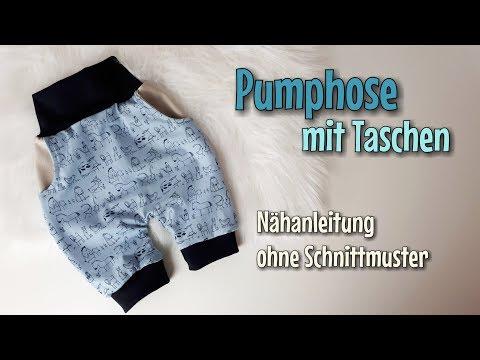 Schnelle und einfache Pumphose / Haremshose nähen ohne Schnittmuster ...