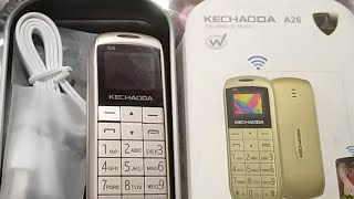 World Smallest Phone (Kechaoda A26 Music Phone) : Feature and Quick Review (Hindi) (Live Video)