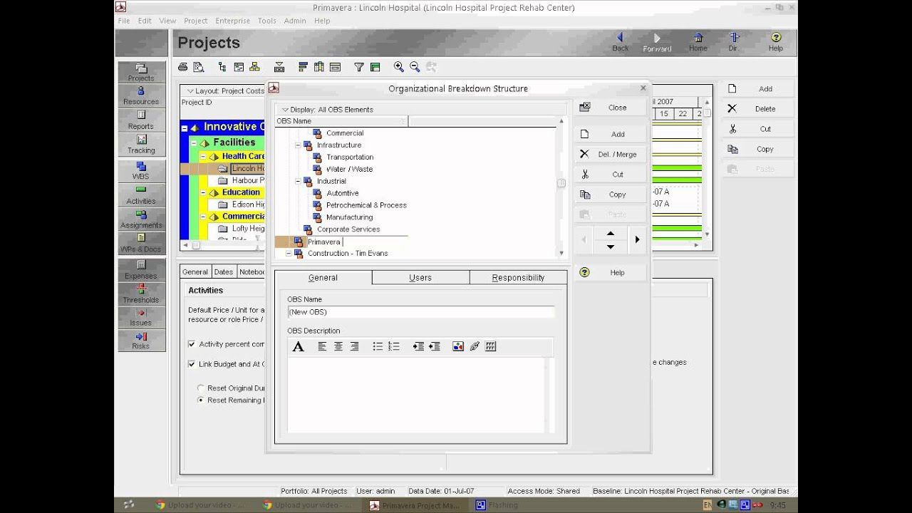 primavera p6 professional project management