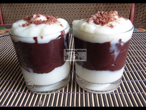 Ванильно шоколадный пудинг