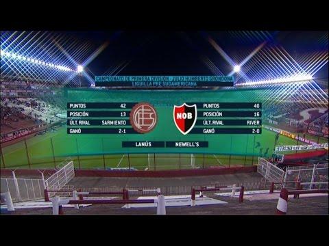 Fútbol en vivo. Lanús- Newell·s. Liguilla Primera A 2015. FpT.