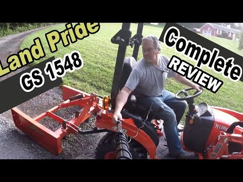 Kubota BX attachment review - Land Pride GS1548 Grading Scraper