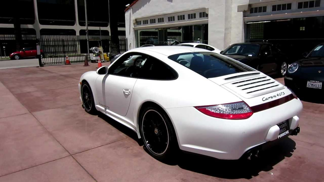 2012 porsche 997 carrera gts 4 coupe white black full leather beverly hills pdk 408 hp new youtube. Black Bedroom Furniture Sets. Home Design Ideas