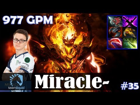 Miracle - Shadow Fiend MID | 977 GPM | 18-1 KDA | Dota 2 Pro MMR Gameplay #35