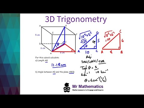 Trigonometry and Pythagoras in 3D Shapes Mathematics Revision ...