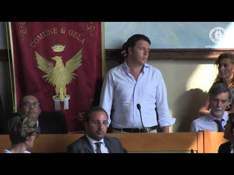 Matteo Renzi a Gela - Sicilia