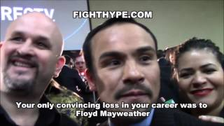 JUAN MANUEL MARQUEZ RIPS IDEA OF 5TH PACQUIAO FIGHT; EXPLAINS WHY HE DOESN'T WANT MAYWEATHER REMATCH