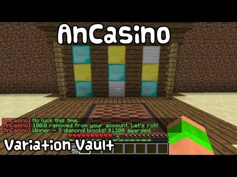 Minecraft Bukkit Plugin - AnCasino - Slot machine casino!
