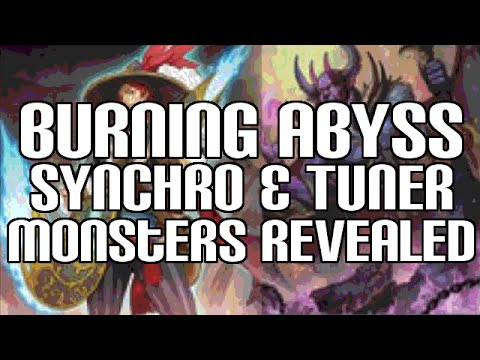 Yugioh Nech Burning Abyss Synchro & Tuner Monster Effects Revealed video