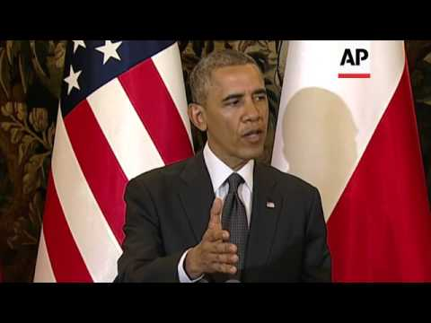 Obama says US to boost military presence in Europe; comments on prisoner exchange