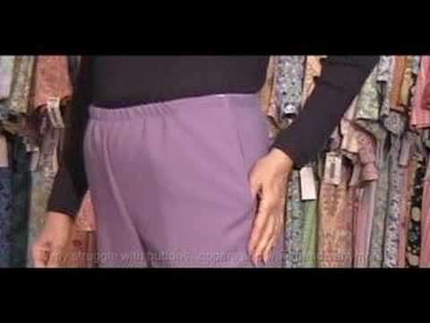 Womens and Mens Arthritis VELCRO brand fastener Pants Dressing Tips Video - Adaptive Clothing