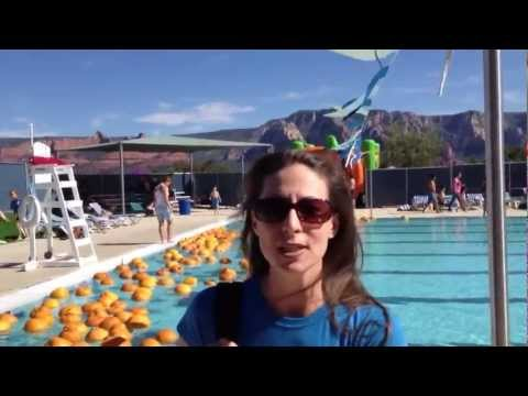 101 Reasons Why I Love living in Sedona # 15 Pumpkin Splash at Sedona city pool