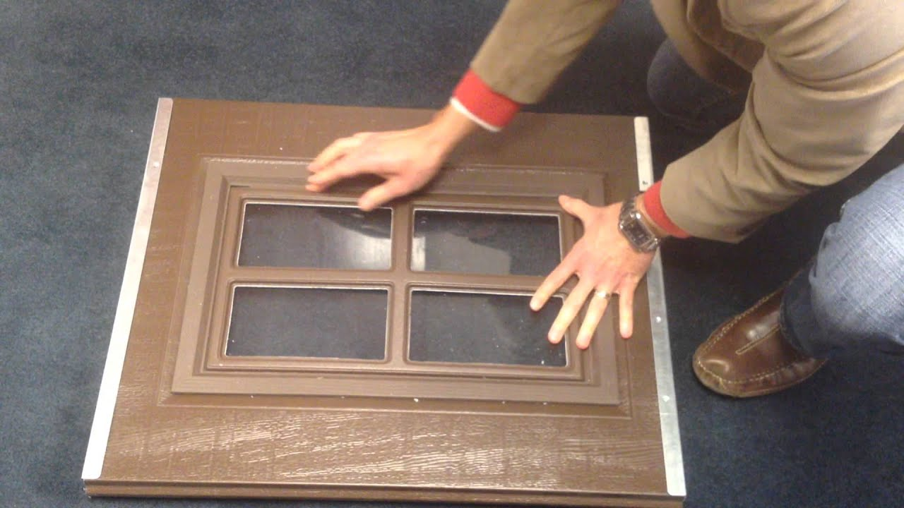 Clopay garage doors snap in decorative window insert for Door window replacement