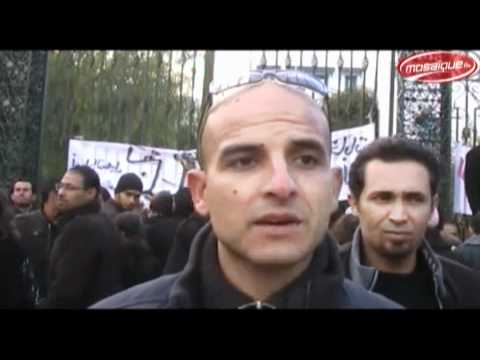 http://www.facebook.com/TunisieNewsOfficiel2 - Manifestation des agents d'inscription de l'ISIE