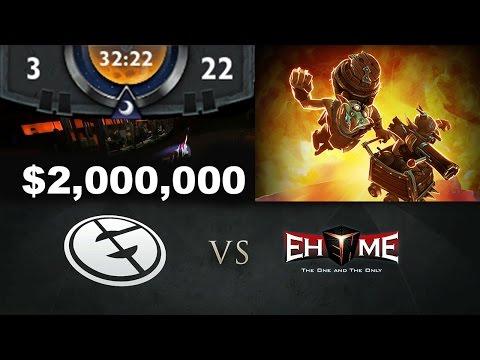 EG vs EHOME - Total 322 Techies $2,000,000 Yolo TI5 Dota 2