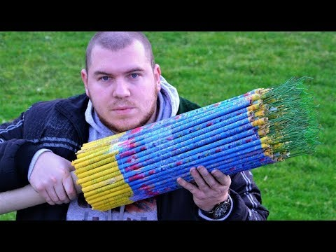 EXPERIMENT 10000 FIREWORKS SHOTS AT ONCE