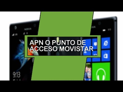 Nokia Lumia 625 (Configuracion APN internet movistar colombia )