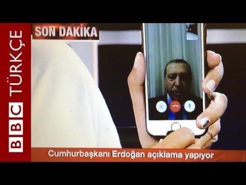 Erdoğan: Milletimi meydanlara davet ediyorum - BBC TÜRKÇE