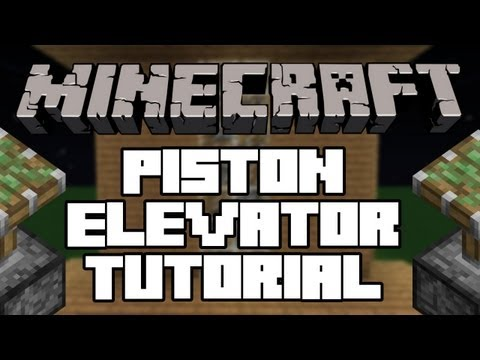 Minecraft 1.2.5 | How to make the BEST Piston Elevator (TUTORIAL)