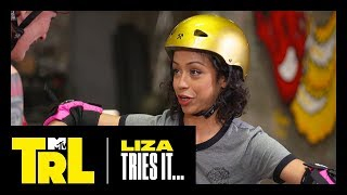 Download Lagu Liza Koshy Learns How to Roller Derby   Liza Tries It   TRL Gratis STAFABAND