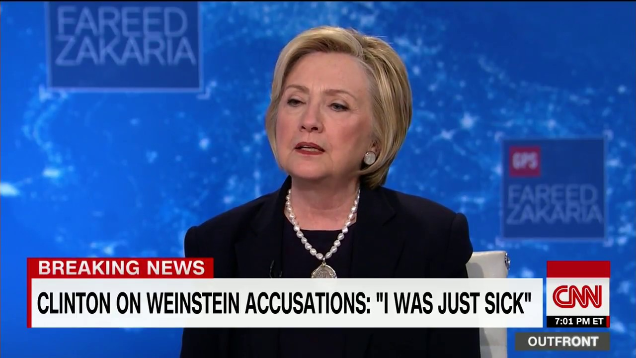 Clinton on Weinstein accusations: I was sick