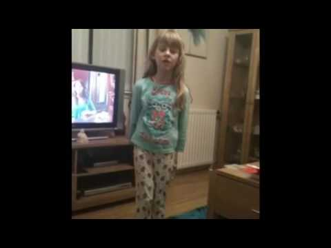 Me singing when I was five then now!