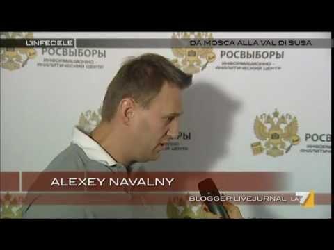 ALEXEY NAVALNY il blogger audace oppositore dell'elezione di Putin L'Infedele 2012 03 05.wmv