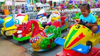 Anak Lucu Bermain Mainan Anak Naik Odong Odong Pesawat & mobil mobilan balapan anak di Batam