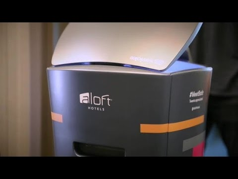 Aloft Hotel's robot butler