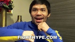 PACQUIAO REVEALS HIS FAVORITE FIGHT; REACTS TO SON'S DESIRE TO FOLLOW IN FOOTSTEPS AND BOX