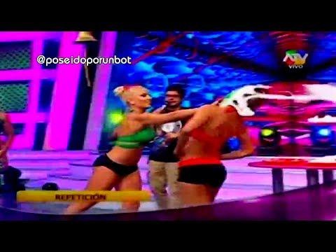COMBATE: Stephanie Valenzuela Se Molesta Con Yamila Por Tortazo 03/03/14