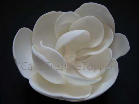 how to make fondant flowers by hand without cutters