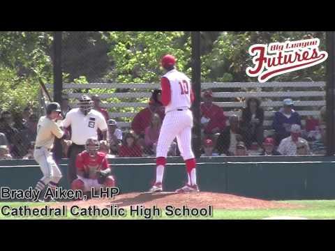 Brady Aiken Prospect Video, Cathedral Catholic High School, CF Cam - 06/03/2014