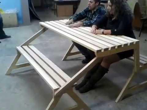 Столы трансформеры своими руками из дерева видео