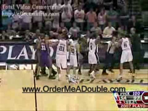 Robert Horry checks Steve Nash HARD