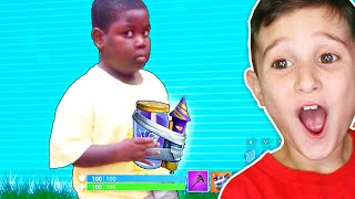 KID REACTS TO FUNNIEST FORTNITE MEMES (TRY NOT TO LAUGH CHALLENGE)