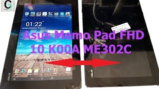 Asus Memo Pad FHD 10 K00A ME302C display and Digitizer replace replacement. Замена экрана и touch.