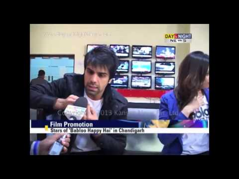 Stars of Babloo Happy Hai in Chandigarh | Film Promotion