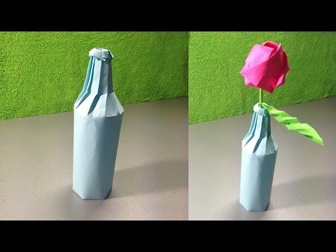 Бумажные поделки из бутылок