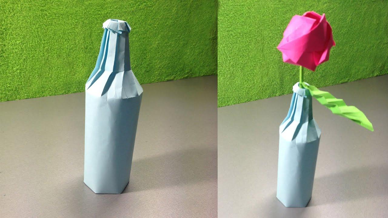 Как сделать из бумаги и бутылки 929