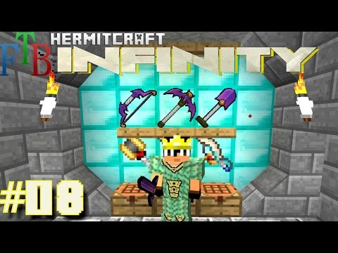 Minecraft Mods FTB Infinity Ep. 08 Draconic Armor Tools HermitCraft Modded Minecraft