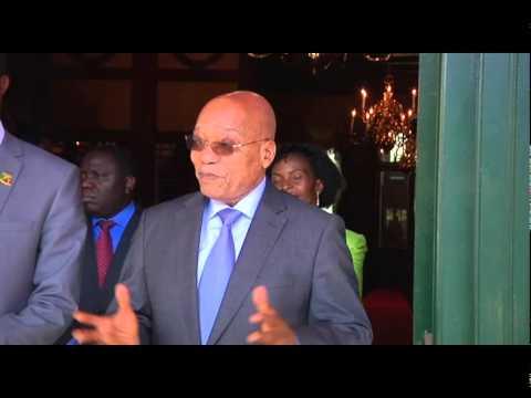 President Jacob Zuma welcomes Zambian President, Edgar Chagwa Lungu