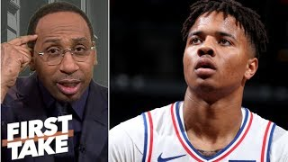 Markelle Fultz has the makings of a 'colossal bust' - Stephen A. | First Take