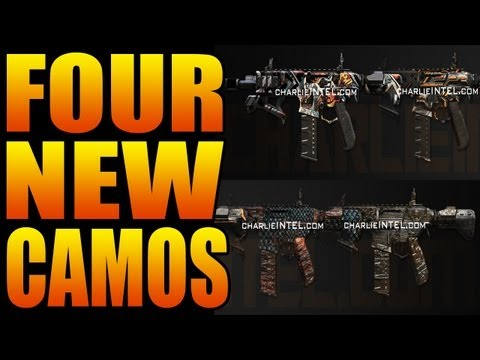 NEW BO2 CAMOS: COMIC BOOK, CYBORG, DRAGON, PALADIN (Vote DLC Black Ops 2 Camo)