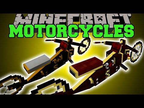 Minecraft: MOTORCYCLES (HAVE EPIC MOTORCYCLE RACES!) Mod Showcase