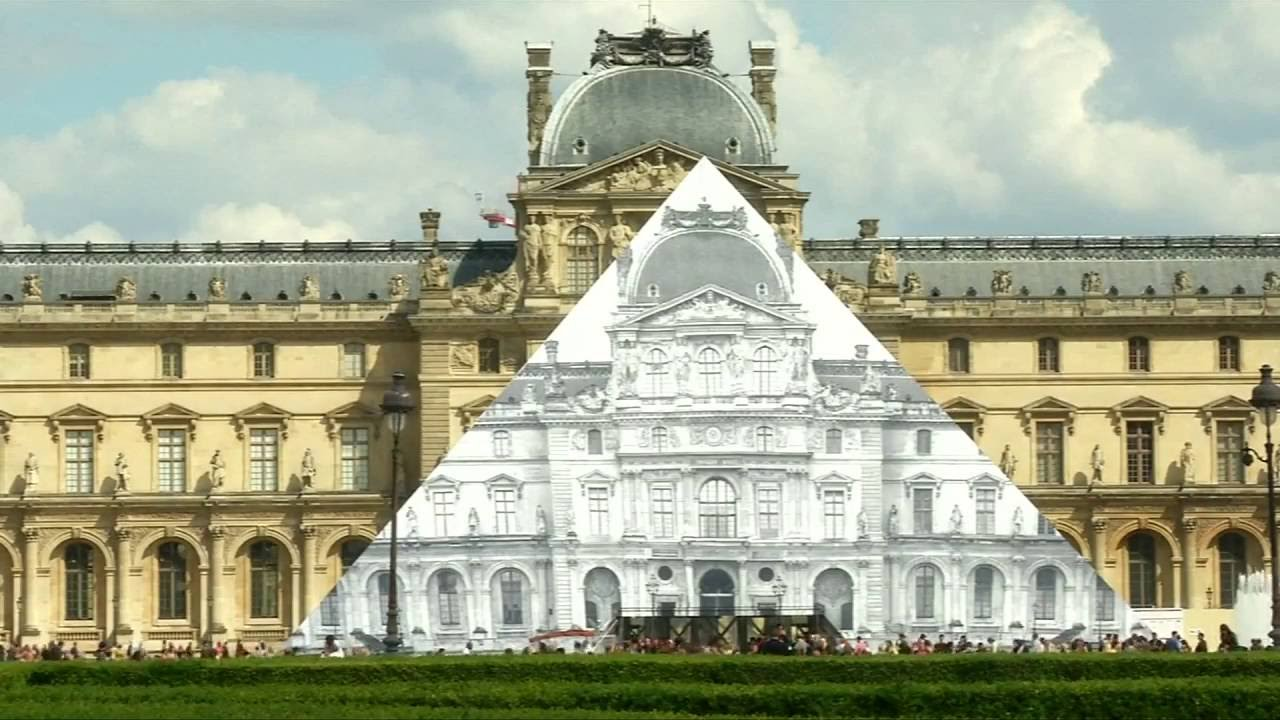 Photographer makes Louvre pyramid 'disappear' with huge photo illusion