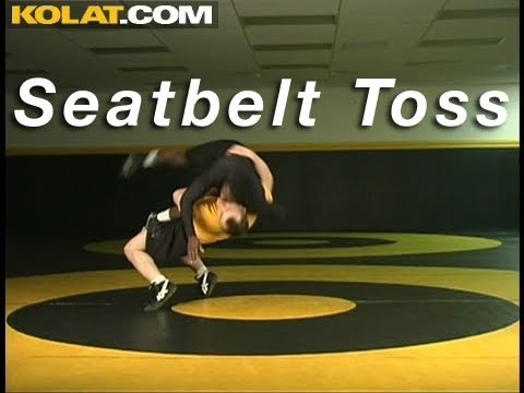 Single Leg Seatbelt Toss KOLAT.COM Wrestling Techniques Moves Instruction Image 1