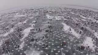 [Largest Ice fishing contest in the world.  Minnesota] Video
